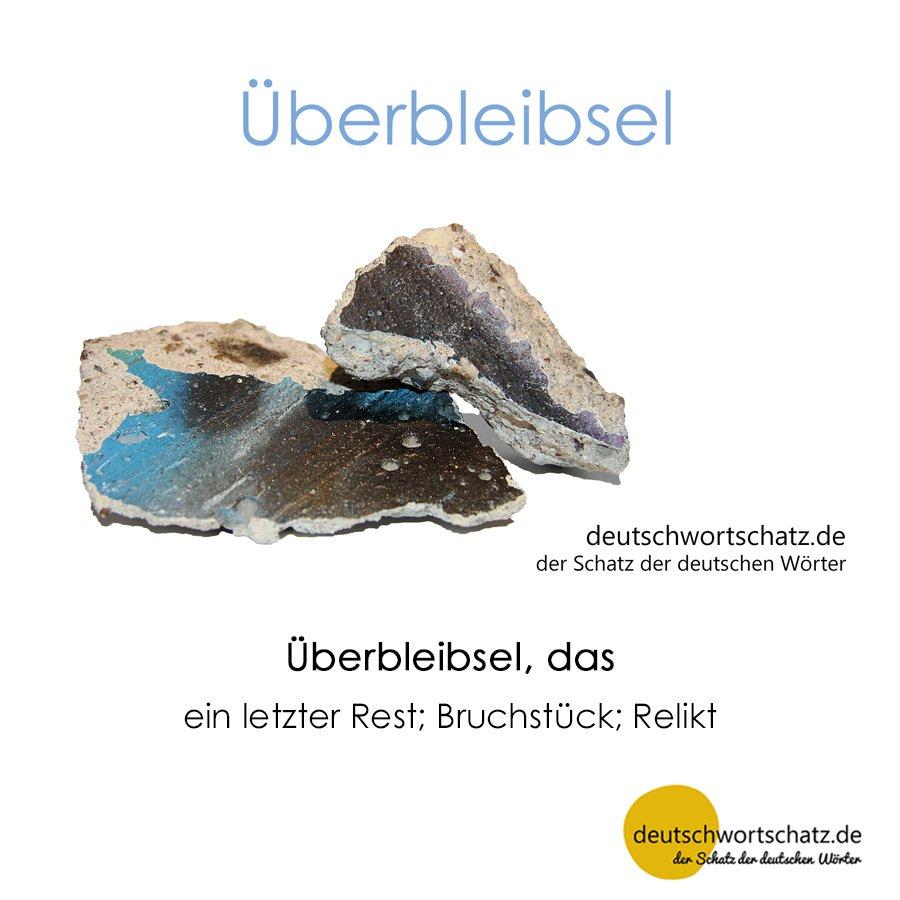 Überbleibsel - Wortschatz mit Bildern lernen - Deutsch lernen