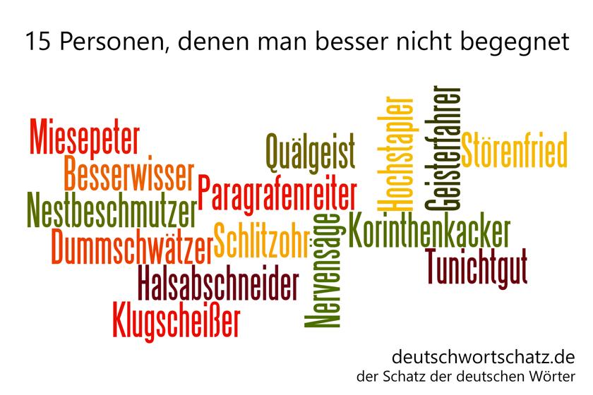 - die schönsten deutschen Wörter- Personen - Personenbezeichnungen - Deutsche Personen