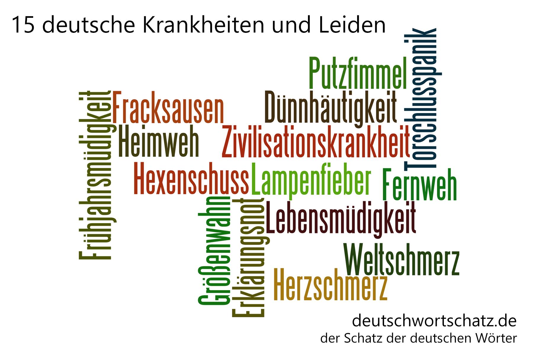 - deutsche Krankheiten und Leiden - Deutsch Wortschatz