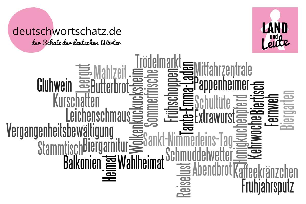 Land und Leute - deutsche Wörter