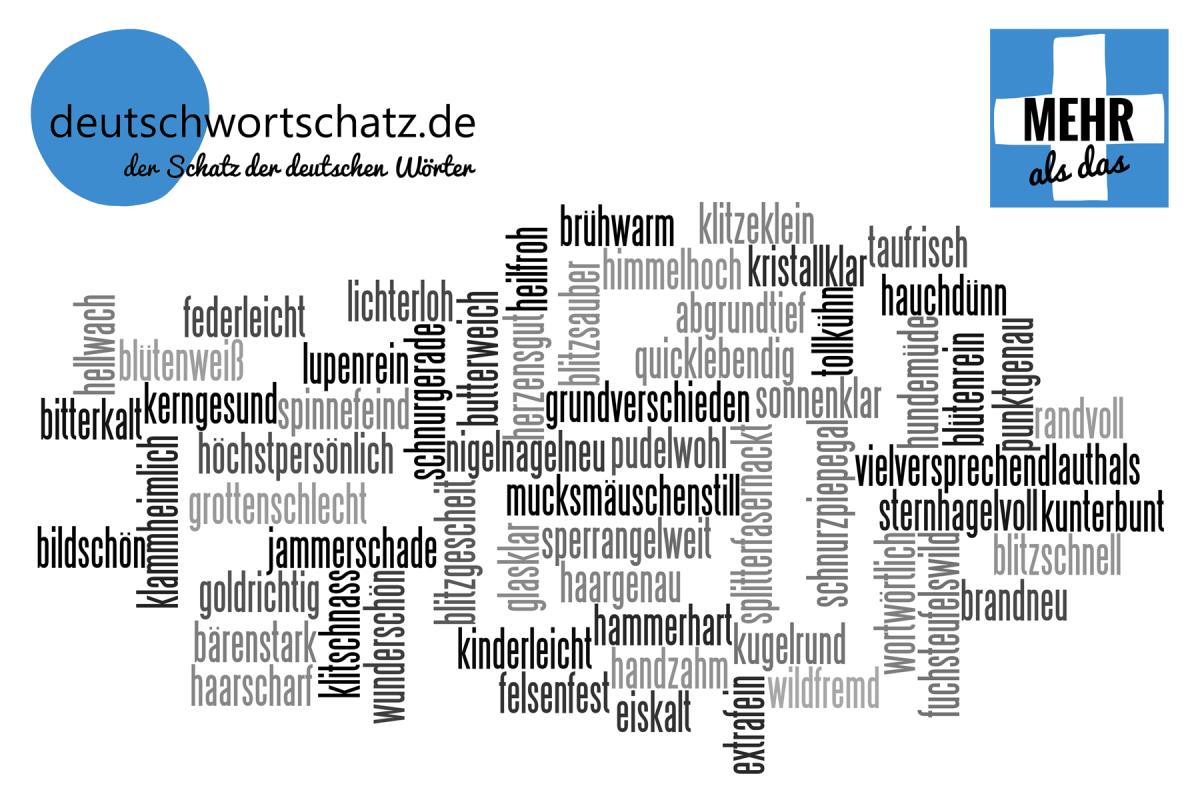 mehr als das - deutsche Wörter