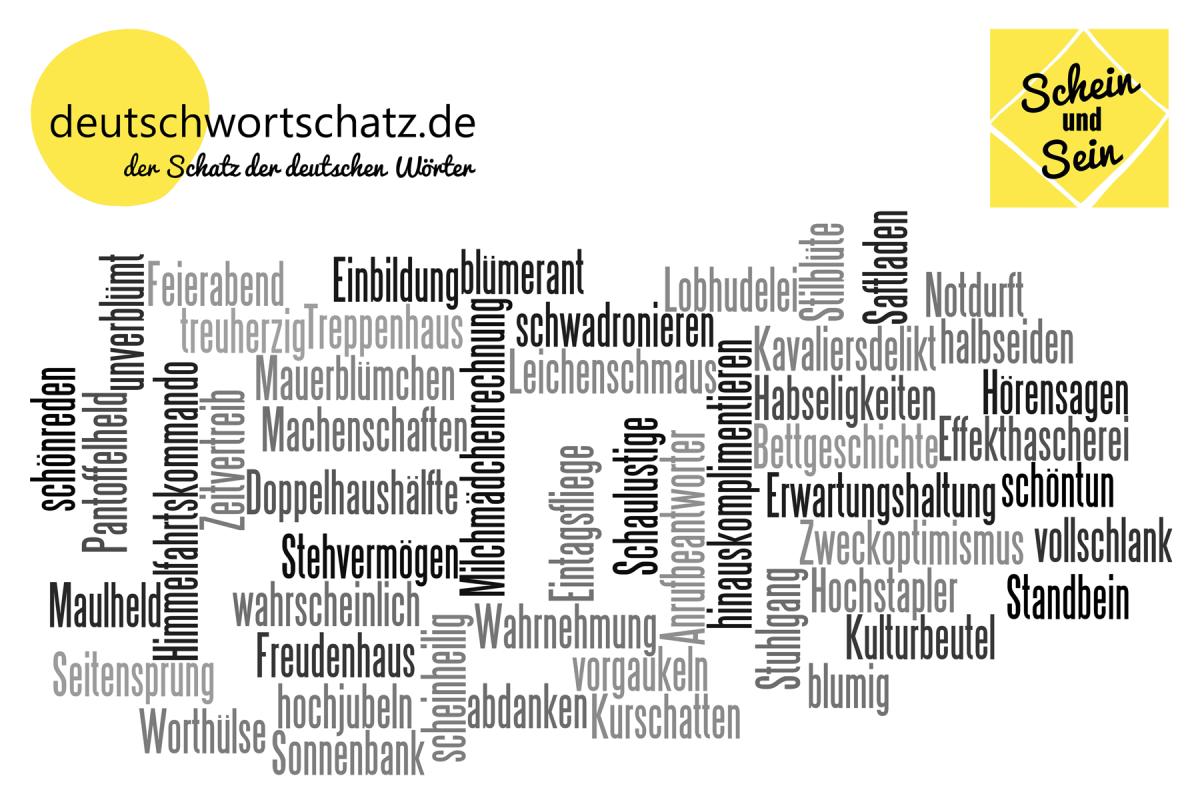 Schein und Sein - deutsche Wörter