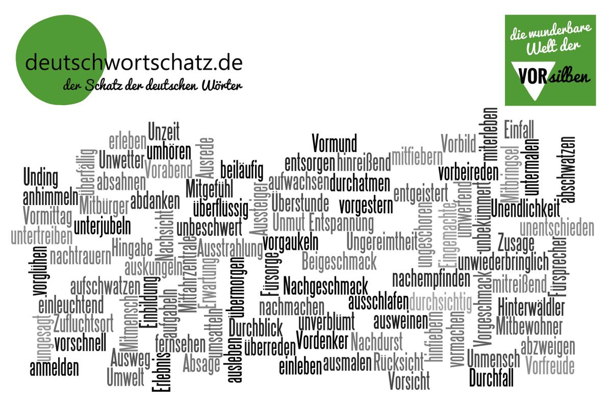 wunderbare Welt der Vorsilben - deutsche Wörter - deutscher Wortschatz