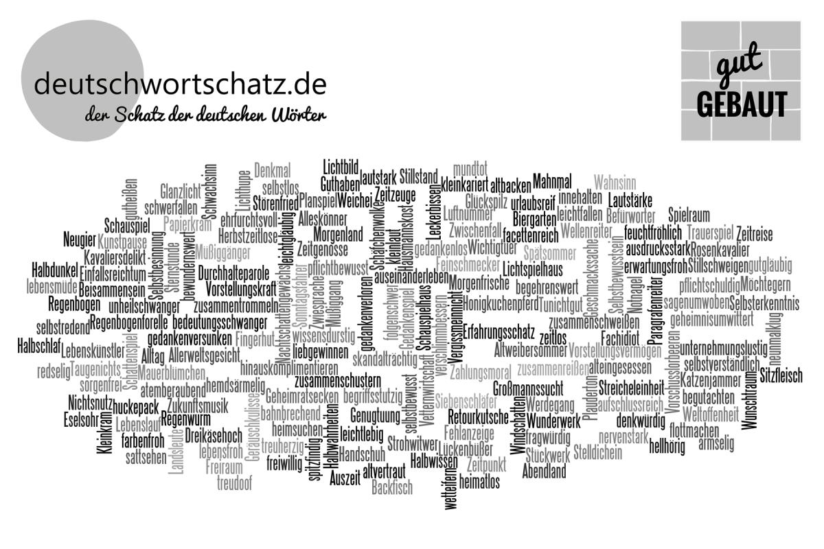 gut gebaut - deutsche Wörter - Wortbildung