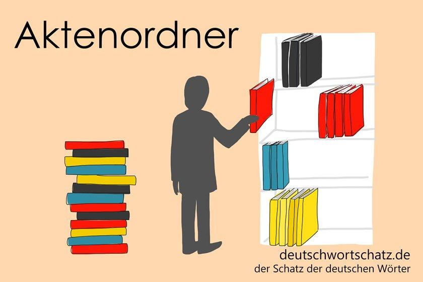 Aktenordner - die schönsten deutschen Wörter - Berufe Deutsch Wortschatz