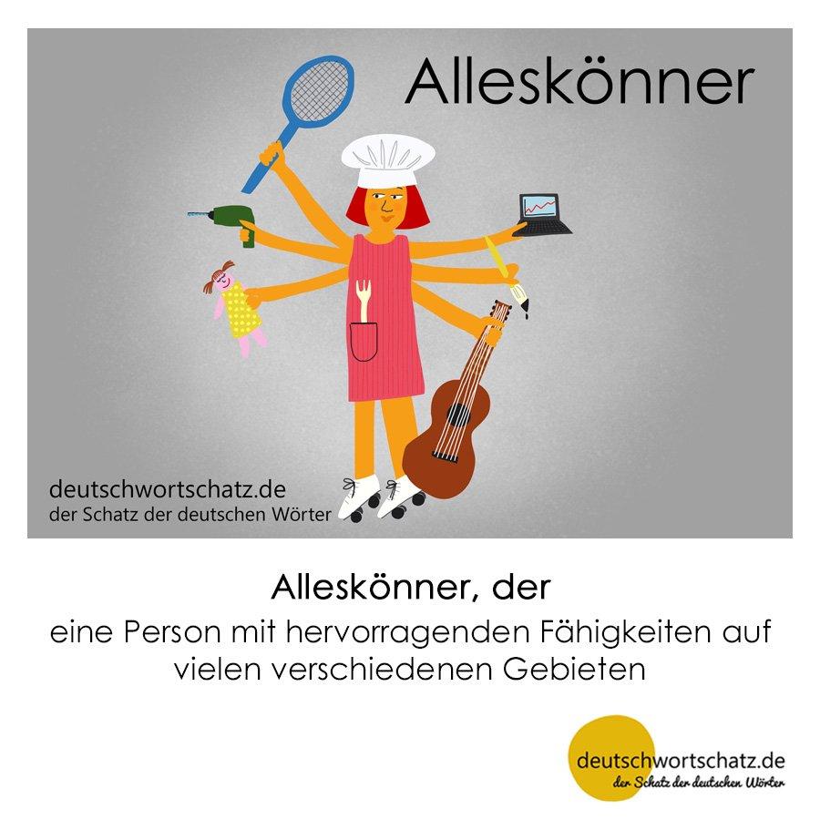 Alleskönner - Wortschatz mit Bildern lernen - Deutsch lernen