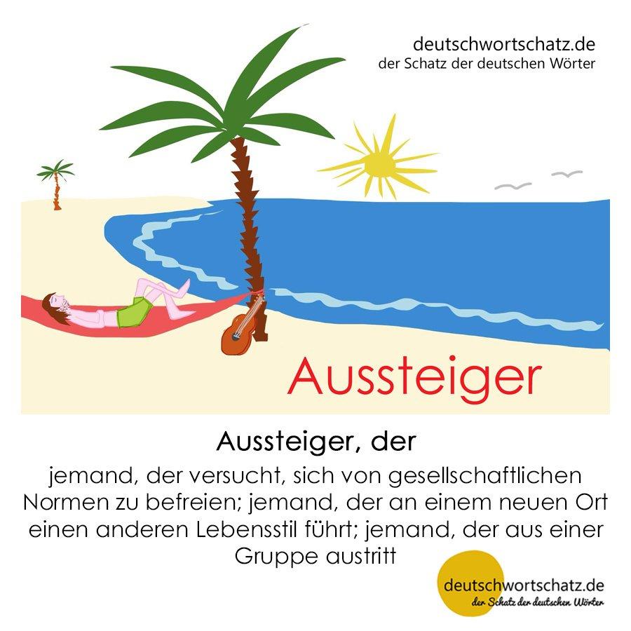 Aussteiger - Wortschatz mit Bildern lernen - Deutsch lernen