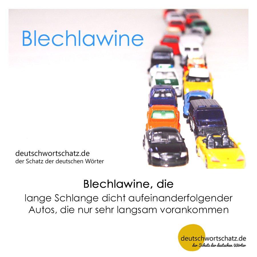 Blechlawine - Wortschatz mit Bildern lernen - Deutsch lernen