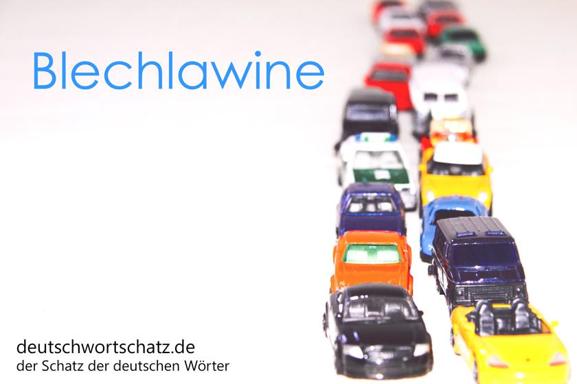 Blechlawine - deutschwortschatz - Gefahren im deutschen Sprachraum - Deutsch Wortschatz