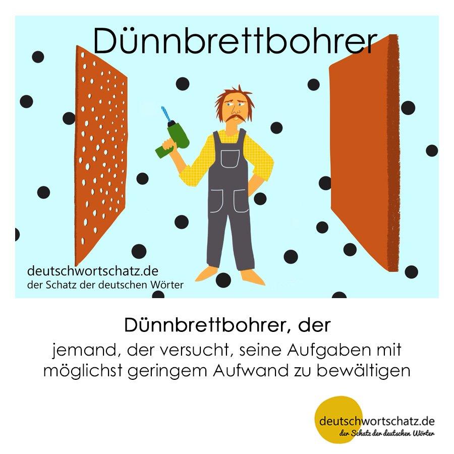 Dünnbrettbohrer - Wortschatz mit Bildern lernen - Deutsch lernen