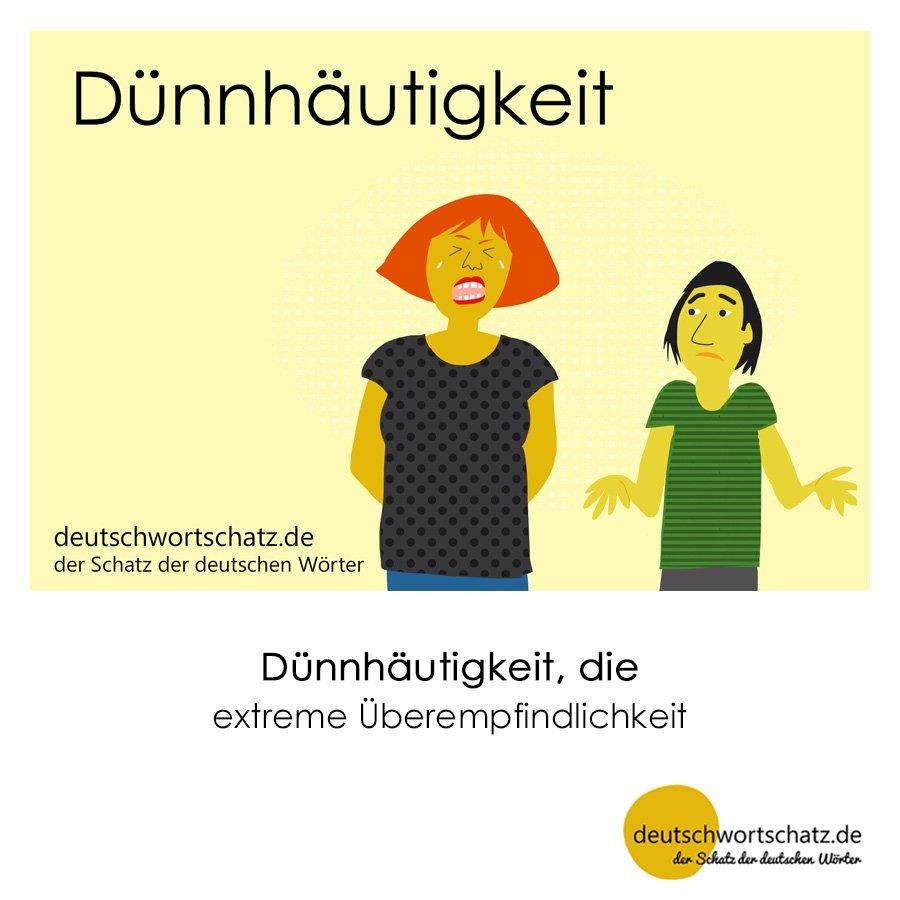 Dünnhäutigkeit - Wortschatz mit Bildern lernen - Deutsch lernen