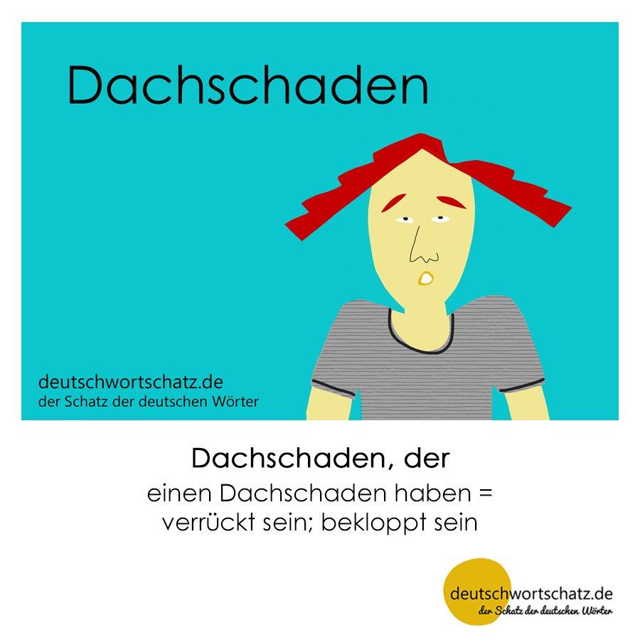 Dachschaden - Wortschatz mit Bildern lernen - Deutsch lernen