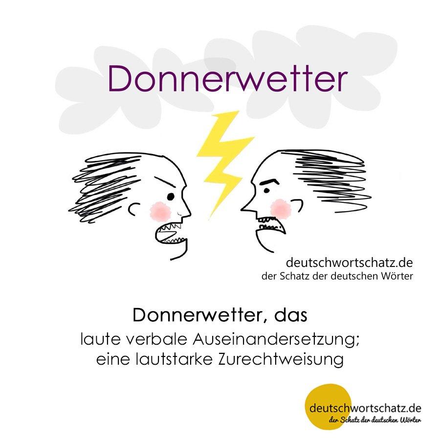 Donnerwetter - Wortschatz mit Bildern lernen - Deutsch lernen