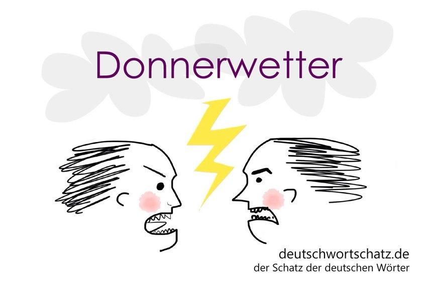 Donnerwetter - die schönsten deutschen Wörter - Gefahren im deutschen Sprachraum - Deutsch Wortschatz