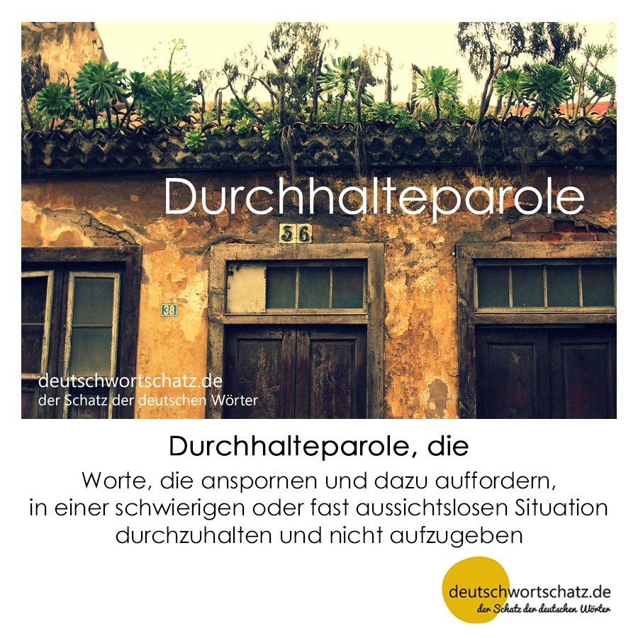 Durchhalteparole - Wortschatz mit Bildern lernen - Deutsch lernen