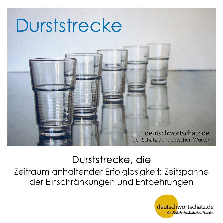 Durststrecke - Wortschatz mit Bildern lernen - Deutsch lernen