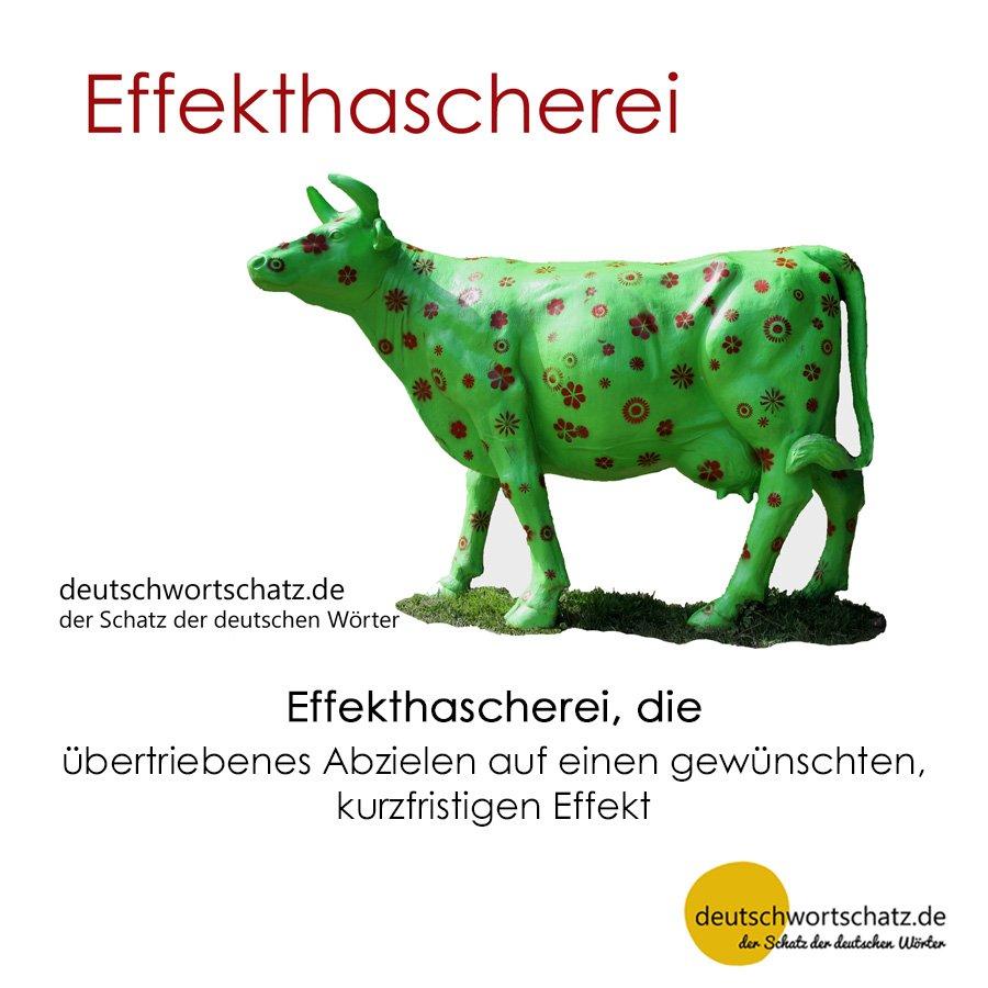 Effekthascherei - Wortschatz mit Bildern lernen - Deutsch lernen
