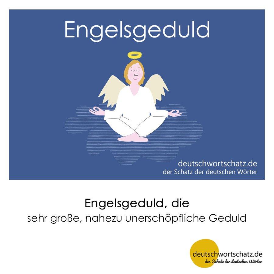 Engelsgeduld - Wortschatz mit Bildern lernen - Deutsch lernen