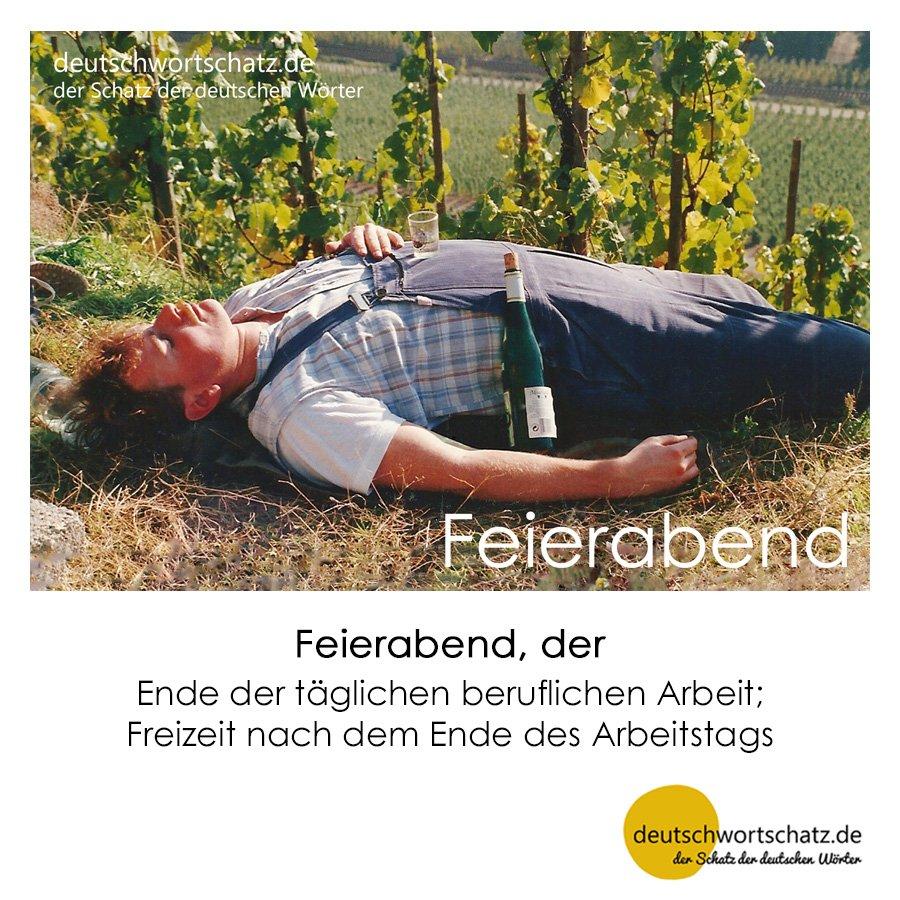 Feierabend - Wortschatz mit Bildern lernen - Deutsch lernen