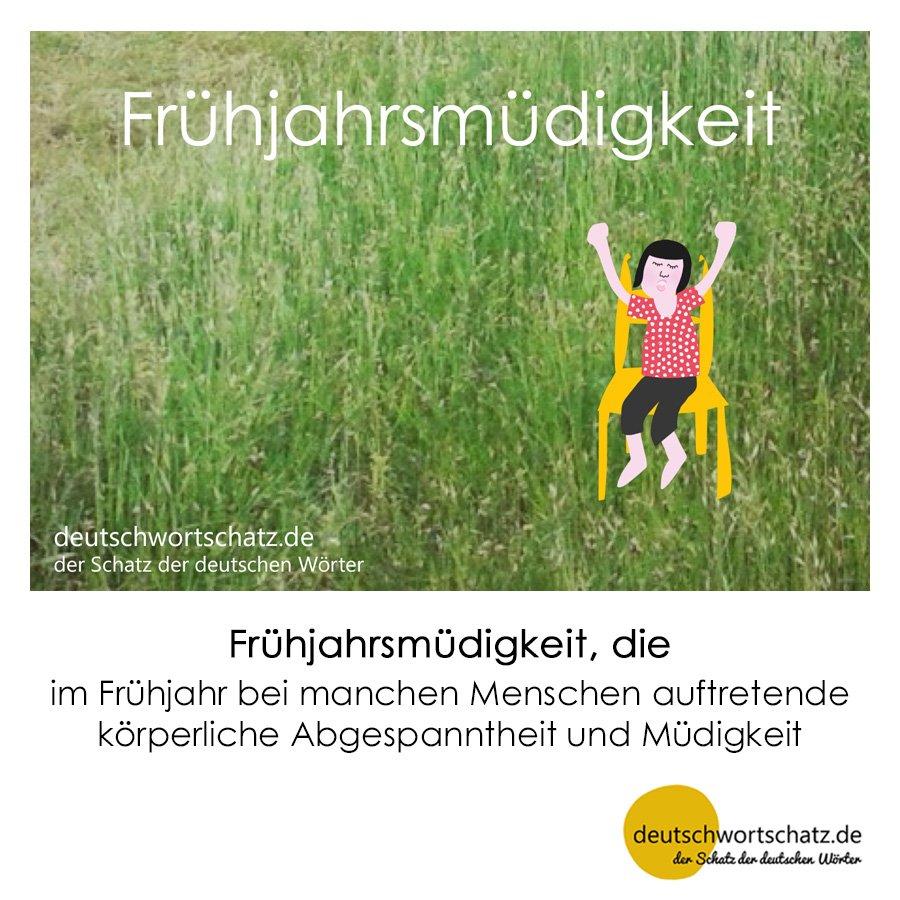 Frühjahrsmüdigkeit - Wortschatz mit Bildern lernen - Deutsch lernen