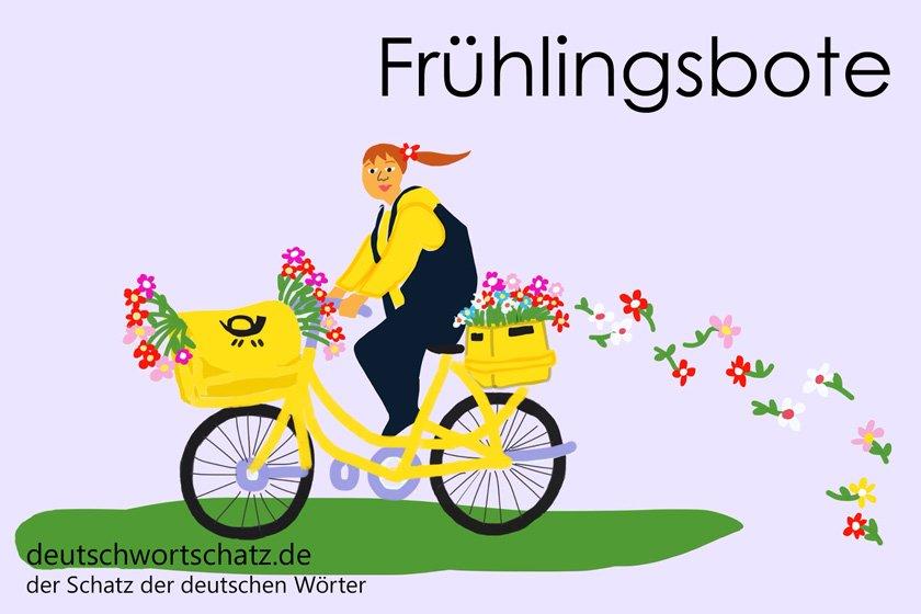 Frühlingsbote - die schönsten deutschen Wörter - Berufe Deutsch Wortschatz