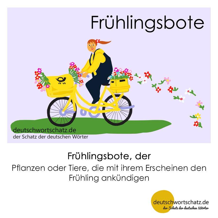 Frühlingsbote - Wortschatz mit Bildern lernen - Deutsch lernen