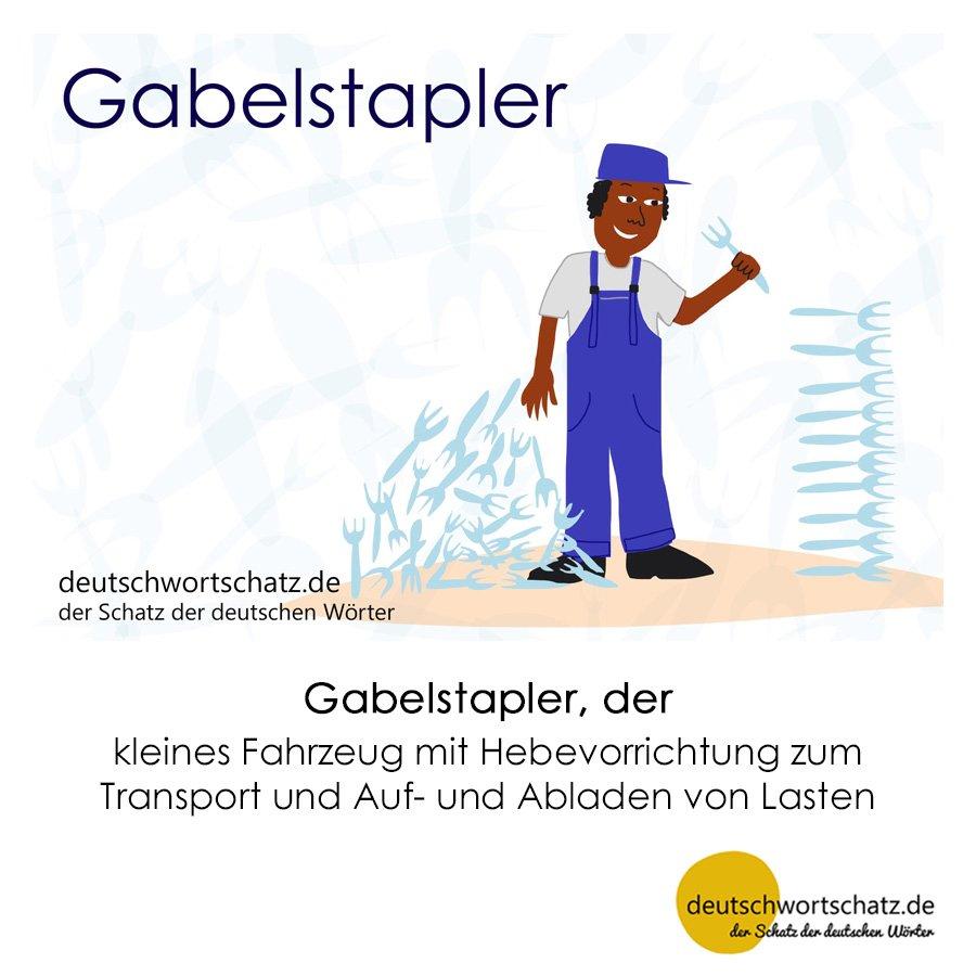Gabelstapler - Wortschatz mit Bildern lernen - Deutsch lernen