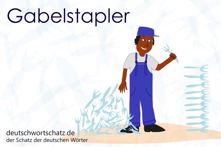 Gabelstapler - die schönsten deutschen Wörter - Berufe Deutsch Wortschatz