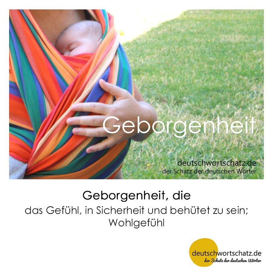 Geborgenheit - Wortschatz mit Bildern lernen - Deutsch lernen
