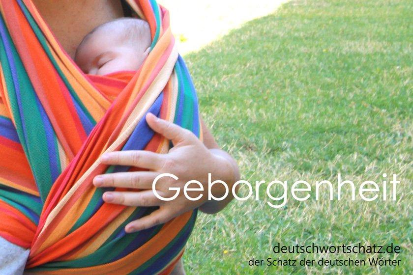 Geborgenheit - die schönsten deutschen Wörter