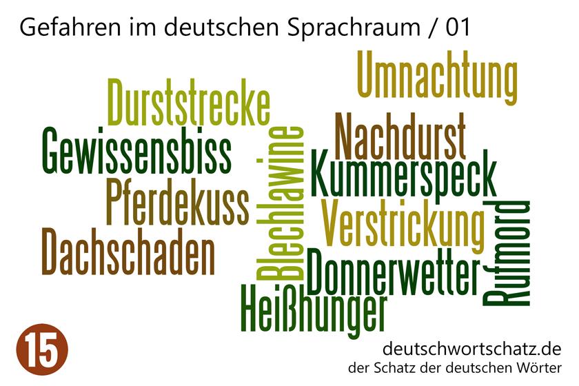 - Gefahren im deutschen Sprachraum - Deutsch Wortschatz