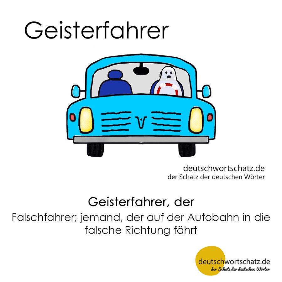 Geisterfahrer - Wortschatz mit Bildern lernen - Deutsch lernen