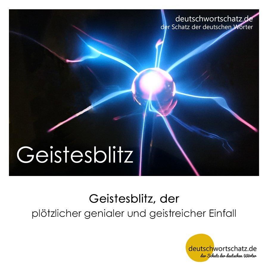 Geistesblitz - Wortschatz mit Bildern lernen - Deutsch lernen