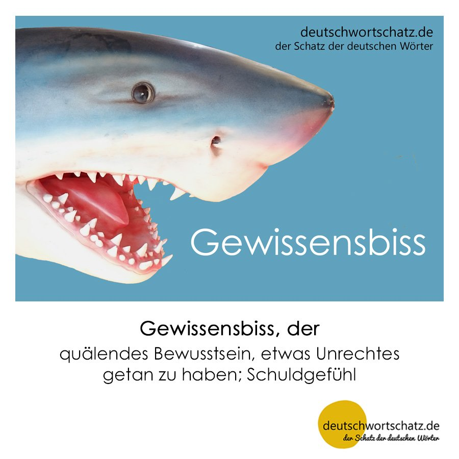 Gewissensbiss - Wortschatz mit Bildern lernen - Deutsch lernen