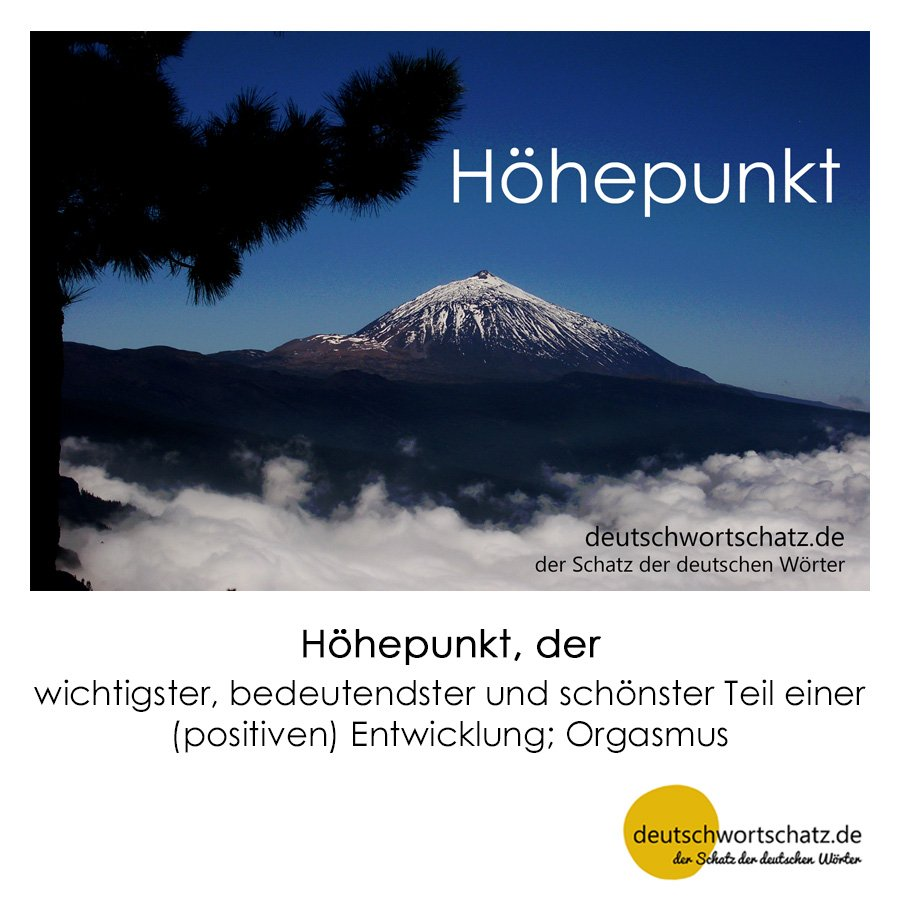 Höhepunkt - Wortschatz mit Bildern lernen - Deutsch lernen