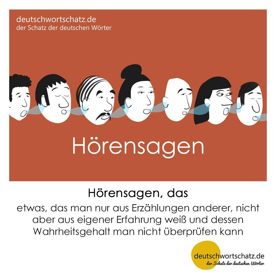Hörensagen - Wortschatz mit Bildern lernen - Deutsch lernen