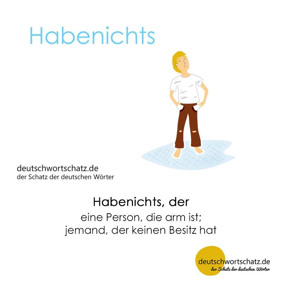 Habenichts - Wortschatz mit Bildern lernen - Deutsch lernen