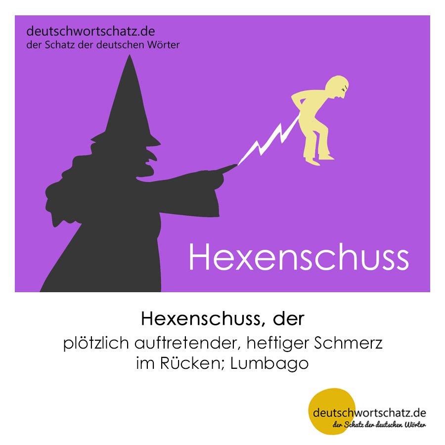 Hexenschuss - Wortschatz mit Bildern lernen - Deutsch lernen
