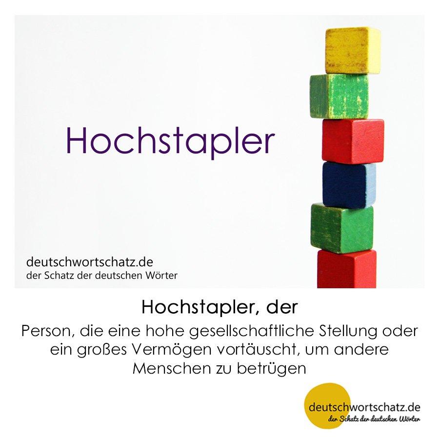 Hochstapler - Wortschatz mit Bildern lernen - Deutsch lernen