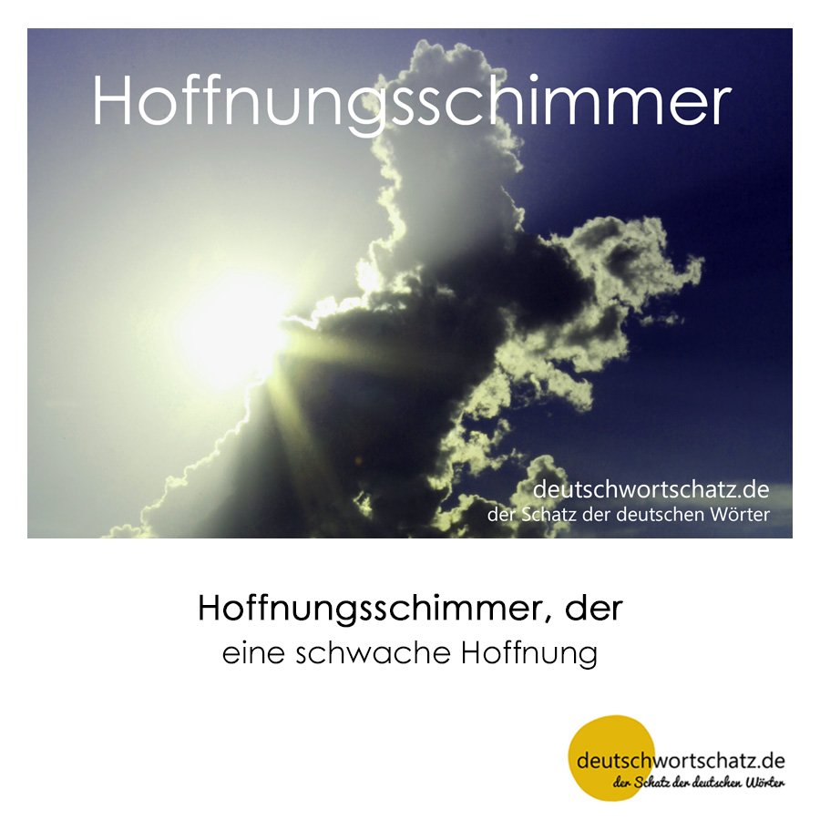 Hoffnungsschimmer - Wortschatz mit Bildern lernen - Deutsch lernen