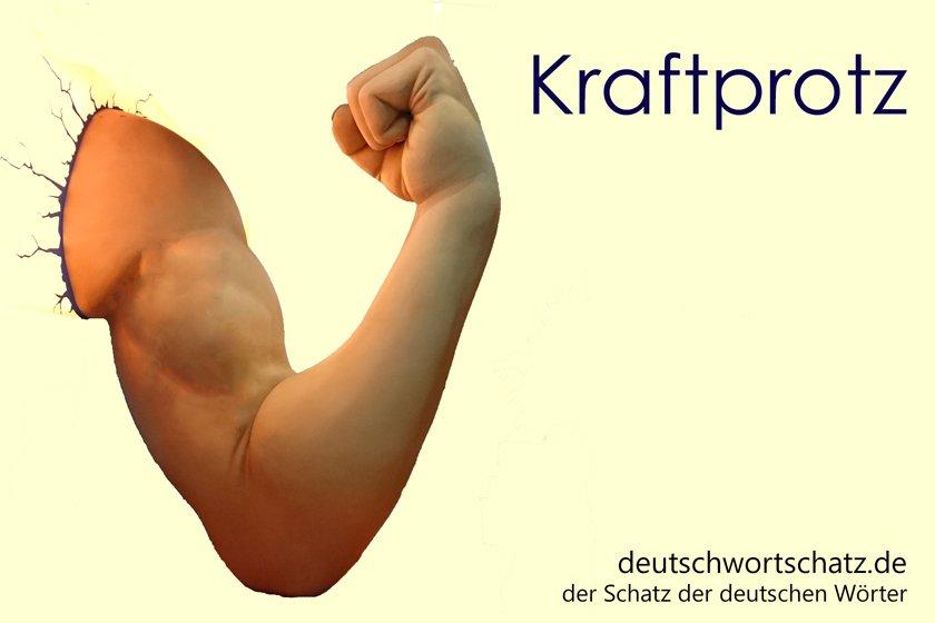 Kraftprotz - Kraftmeier - Muskelpaket - Deutsch Wortschatz - deutsche Wörter