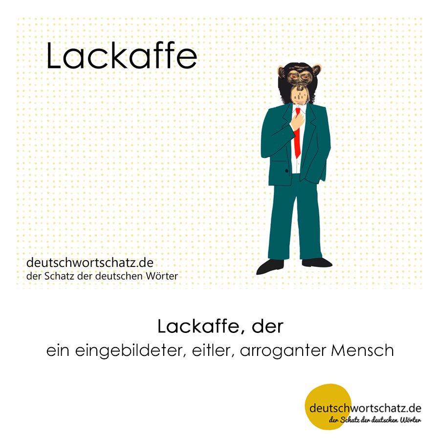 Lackaffe - Wortschatz mit Bildern lernen - Deutsch lernen