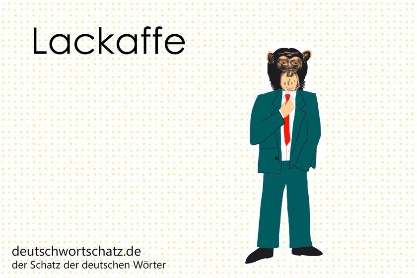 Lackaffe - die schönsten deutschen Wörter