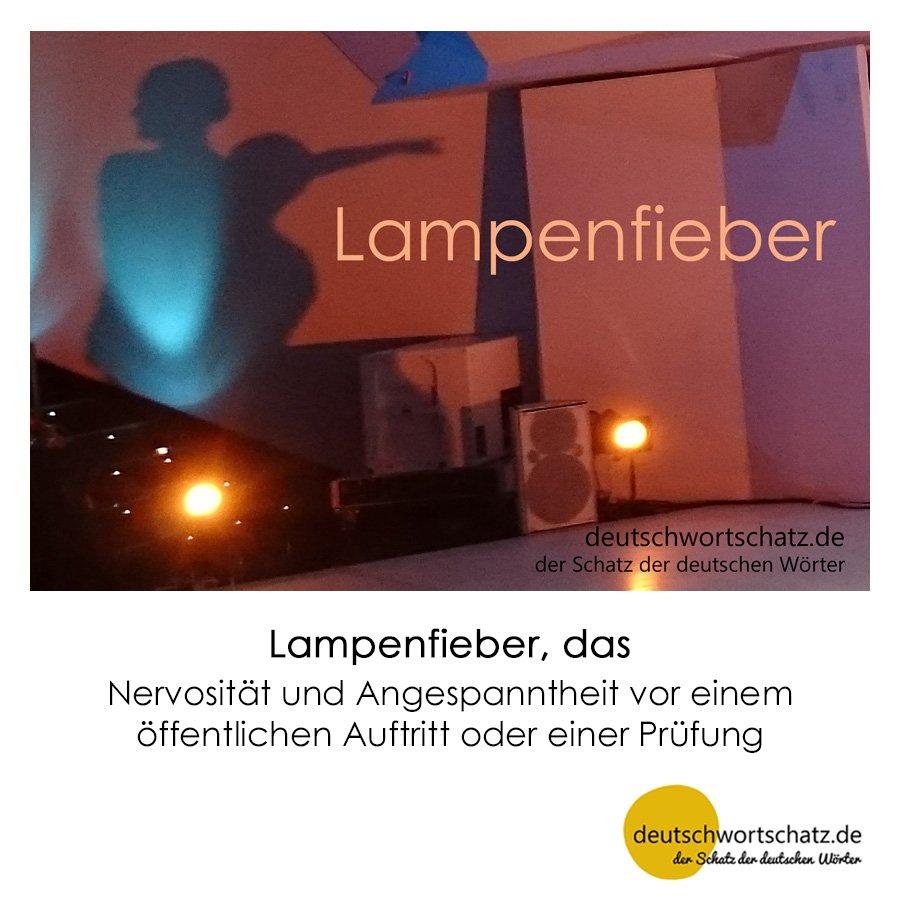 Lampenfieber - Wortschatz mit Bildern lernen - Deutsch lernen