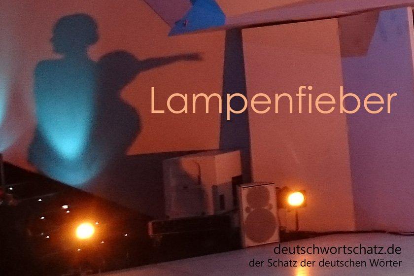 Lampenfieber - die schönsten deutschen Wörter - deutsche Krankheiten und Leiden - Deutsch Wortschatz