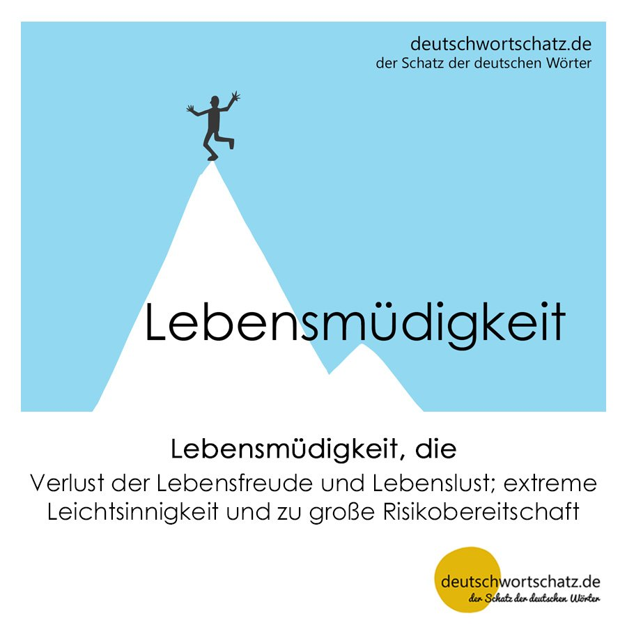 Lebensmüdigkeit - Wortschatz mit Bildern lernen - Deutsch lernen