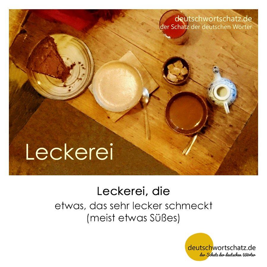 Leckerei - Wortschatz mit Bildern lernen - Deutsch lernen