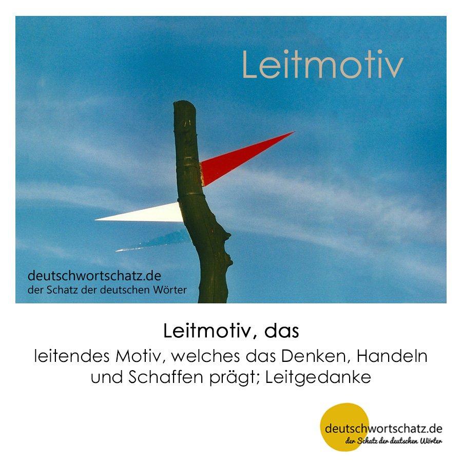 Leitmotiv - Wortschatz mit Bildern lernen - Deutsch lernen