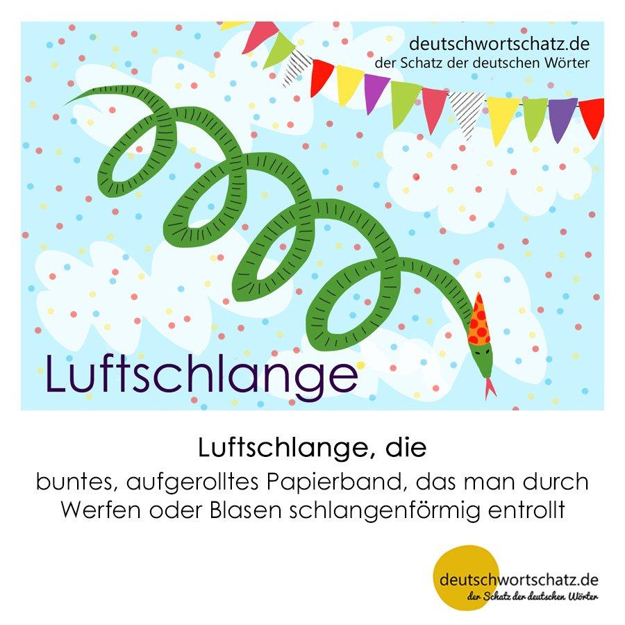 Luftschlange - Wortschatz mit Bildern lernen - Deutsch lernen
