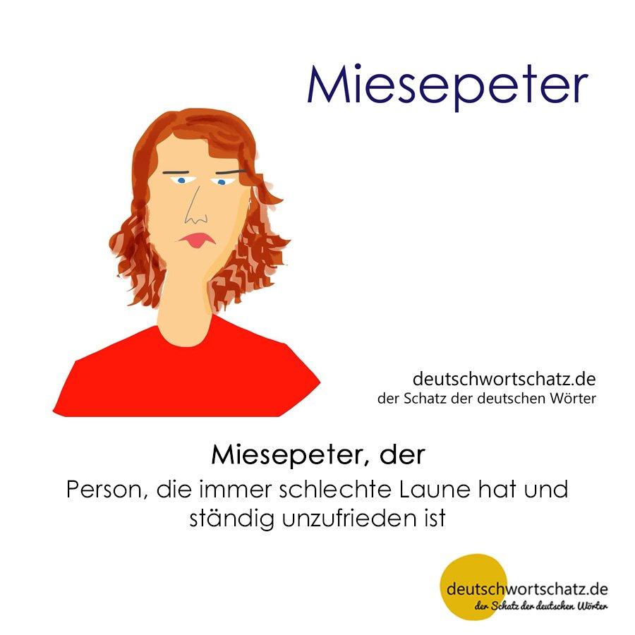 Miesepeter - Wortschatz mit Bildern lernen - Deutsch lernen